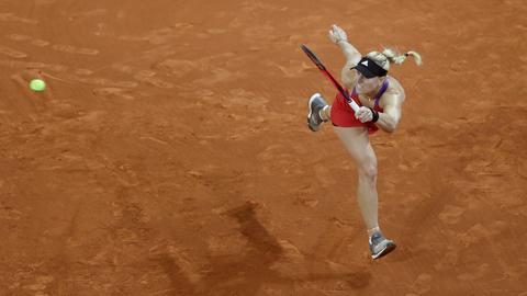 Kerber musste sich beim Tennis-Turnier in Rom der Lettin Jelena Ostapenko im Achtelfinale mit 6:4, 3:6, 4:6 geschlagen geben.