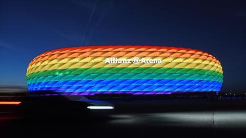 Während des EM-Spiels gegen Ungarn wird das Stadion in München nicht in den Regenbogen-Farben leuchten.