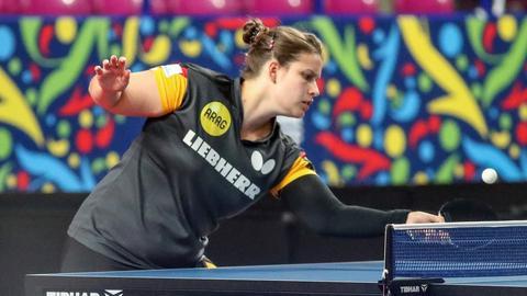 Petrissa Solja in Aktion während der Tischtennis-EM in Polen