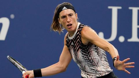 Andrea Petkovic während dem Spiel gegen Garbine Muguruza in der 2. Runde der US Open