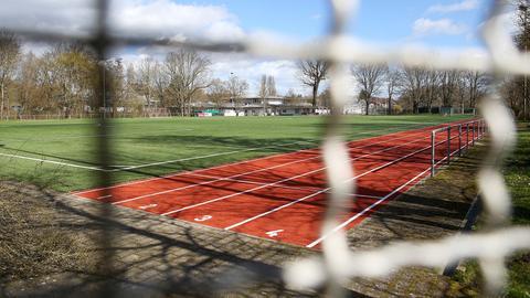 Leerer Sportplatz in Ludwigsburg