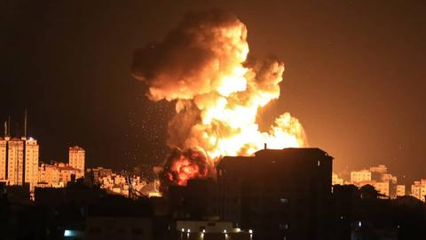 Explosion in Gaza-Stadt (dpa)