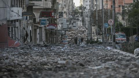 Überreste eines zerstörten Hauses in Gaza-Stadt (dpa)