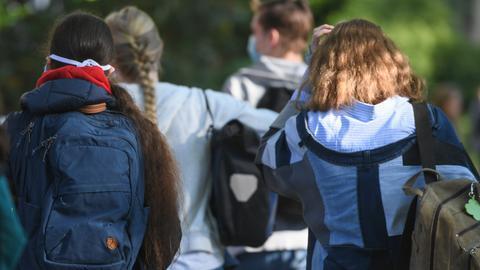 Jugendliche Schüler gehen in Niedersachsen zur Schule. (dpa)