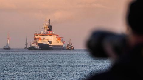 """Ankunft der """"Polarstern"""" in Bremerhaven (AFP)"""