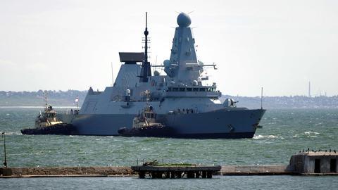 """Britischer Zerstörer """"HMS Defender"""" (dpa)"""