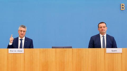 Lothar Wieler und Jens Spahn (REUTERS)