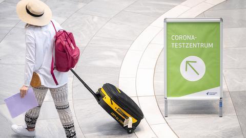 Corona-Testcenter am Flughafen Stuttgart (dpa)