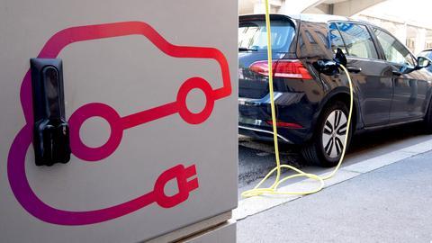 Elektroauto wird an einer Ladesäule geladen (picture alliance/dpa)