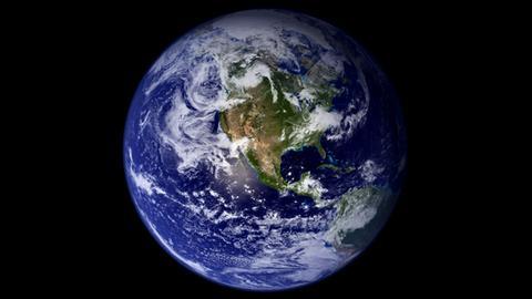 Sicht aus dem Weltraum auf die Erde (picture alliance / dpa)