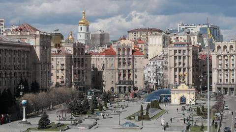 Das leere Stadtzentrum von Kiew (Ukaine) (EPA)