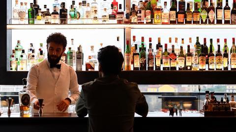 Bar im Restaurant Torre in Mailand (REUTERS)
