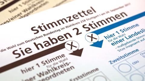 Stimmzettel zur Bundestagswahl 2017 (dpa)