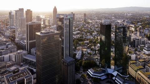 Das Bankenviertel in der Frankfurter Innenstadt (picture alliance / Geisler-Fotop)