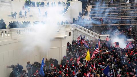 Szenen vom Sturm auf das US-Kapitol am 6. Januar (Archivbild). (REUTERS)