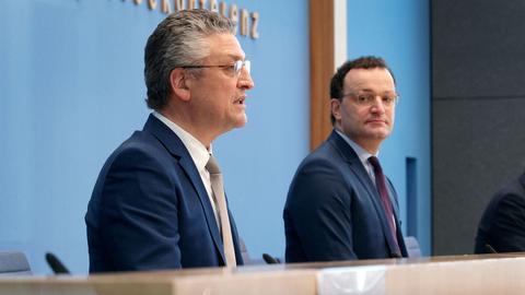 Jens Spahn und Lothar Wieler (AFP)