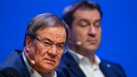 NRW-Ministerpräsident Armin Laschet und Bayerns Ministerpräsident Markus Söder (dpa)