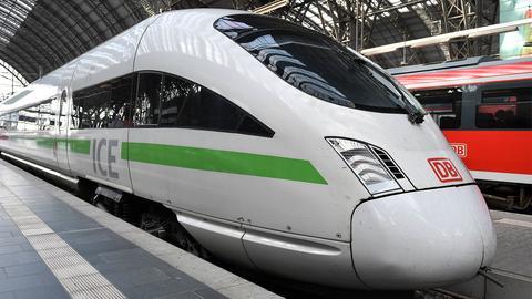 ICE der Deutschen Bahn im Frankfurter Hauptbahnhof ()
