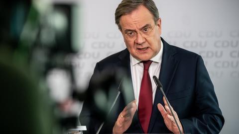 CDU-Parteichef Armin Laschet bei einer Rede. (EPA)
