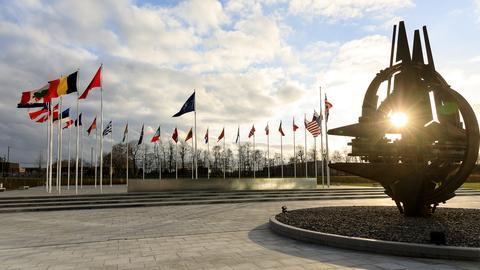 Das Hauptquartier der NATO in Brüssel.  (dpa)