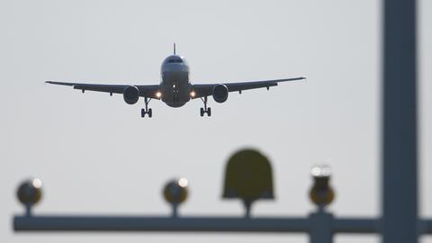 Ein Flugzeug vom Airbus A320 im Landeanflug. (dpa)