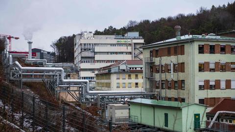 Das neue Werk des Impfstoffherstellers BioNTech in Marburg. (AFP)