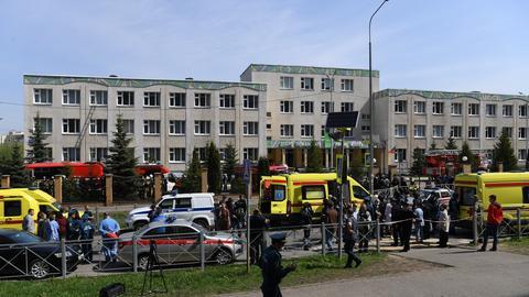 Eine Schule im russischen Kasan (dpa)