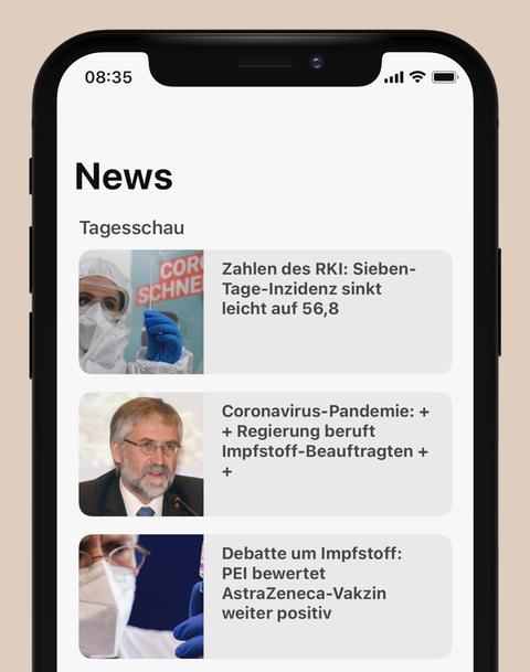 """Der Bereich """"Nachrichten"""" in den neuen Radio-Apps"""
