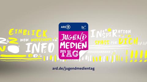 """Grafik mit dem Logo """"Jugendmedientag"""" und der Adresse """"ard.de/jugendmedientag"""""""