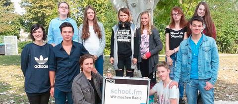 Schüler*innen der Bertha-von-Suttner-Schule Nidderau