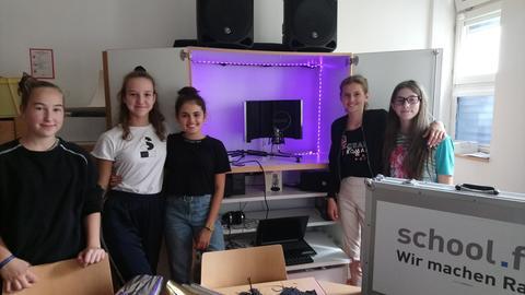 Die Radiomacher der I. E. Lichtigfeld-Schule Frankfurt