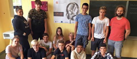 Die Radiomacher der Mittelpunktschule Gadernheim