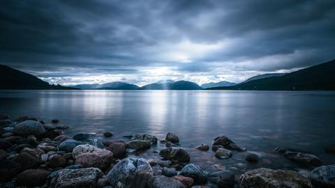 Landschaft in den Äußeren Hebriden