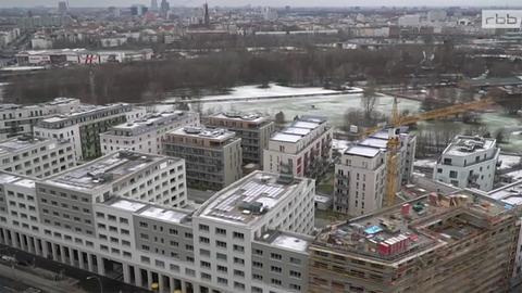 Stadtviertel von oben