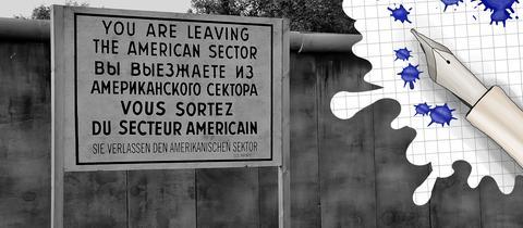 Berliner Mauer und Grafik