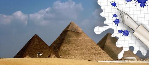 Pyramiden von Gizeh und Grafik