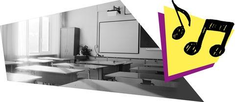 Klassenzimmer und Grafik
