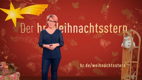 """Andrea Ballschuh moderiert die Fernsehsendung """"Der hr-Weihnachtsstern"""""""