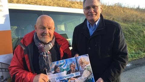 Erich Lindner und Willi Schmid vom Landesverbandes Hessischer Tafeln e.V