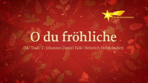 """Grafik mit Text """"O Du Fröhliche"""""""