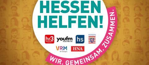 Die Website hessen-helfen.de ist eine Gemeinschaftsaktion des Landes Hessen mit den Medienpartnern hr3, YOU FM, Hessenschau sowie der HNA und VRM.