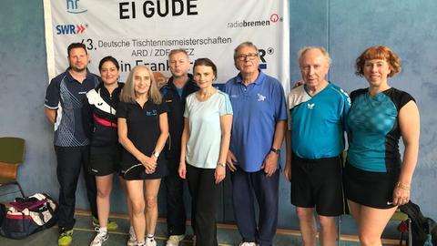 hr-Mannschaft Tischtennismeisterschaft ARD, ZDF und ZBS