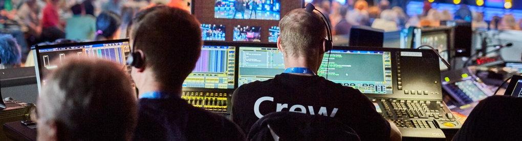 Techniker bei einer Fernsehaufzeichnung