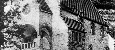 Erinnerungskarte zur Weihefeier der Heppenheimer Synagoge 1900