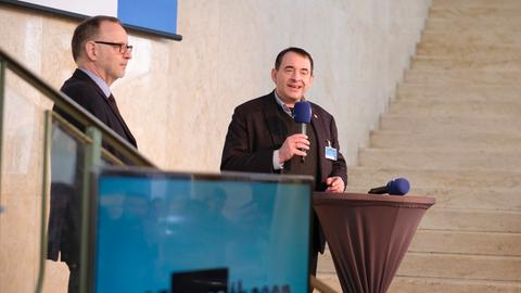 Kultusminister R. Alexander Lorz und hr-Intendant Manfred Krupp