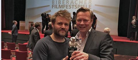 Regisseur Max Zähle (li.) und Drehbuchautor David Ungureit