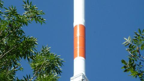 Neue Antennen am Sender Rimberg
