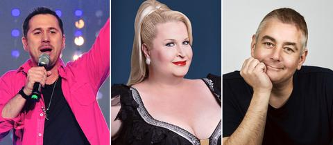 Die Comedians: Andy Ost, Daphne de Luxe und Ingo Oschmann