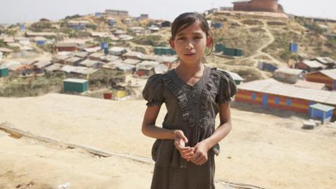 Die neunjährige Bushra im Flüchtlingscamp Kutupalong in Bangladesch