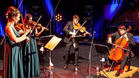 """Das Aris Quartett bei der Sendung """"Bühne frei"""""""